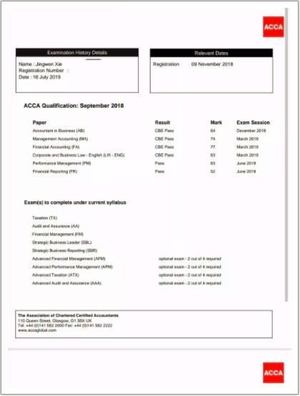 ACCA,ACCA考试,会计ACCA